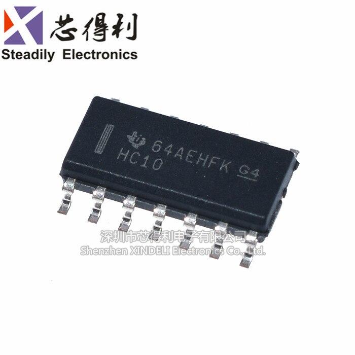 10 pçs/lote Sn74hc10dr Originais Sop-14 Three-Way 3-Posivos e Não-Chip Chip de Lógica Portão de Entrada