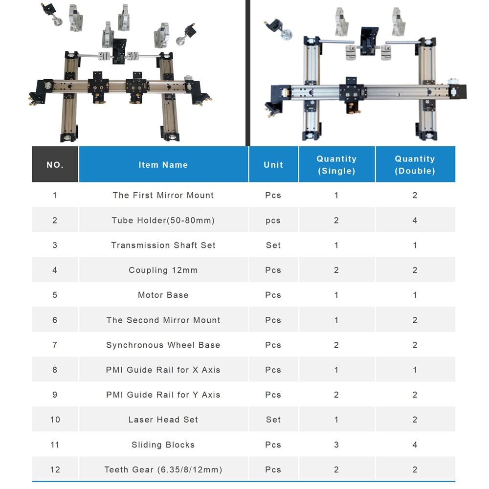 1200*800 DIY Metall Mechanische Komponente Kit Linearführungsschiene Montieren CNC 1280 Co2 Laser Gravur Cutter Maschine
