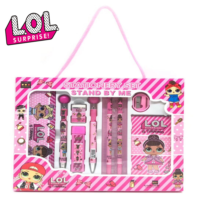 LOL Surprise Dolls Children Cartoon Stationery Set Gift Box School Supplies For Children Student Stationery Gifts 2S59