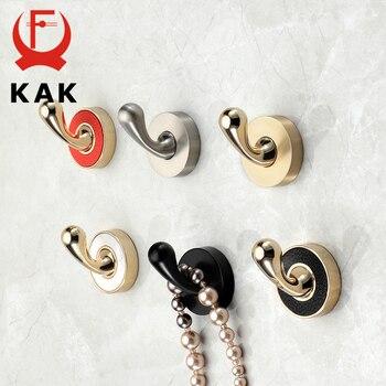 KAK Zinc Alloy Gold Black Clothes Hook Hangers Wall Hook Coat Bag Hat Hanging Hooks Bathroom Kitchen Racks Wall Hardware