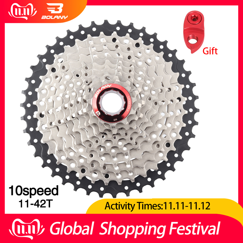 BOLANY MTB 9 Speed Freewheel 11-42T Mountain Bike Flywheel Cogs Black and silver