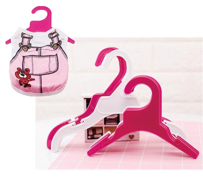 10PCS Set Plastic Tough font b Pet b font Dog Puppy Cat Clothes hanger 18cm 25cm