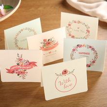 10sets  Creative Birthday Card Fathers Day Thanksgiving Wish Thanks Message Small Touch Paper