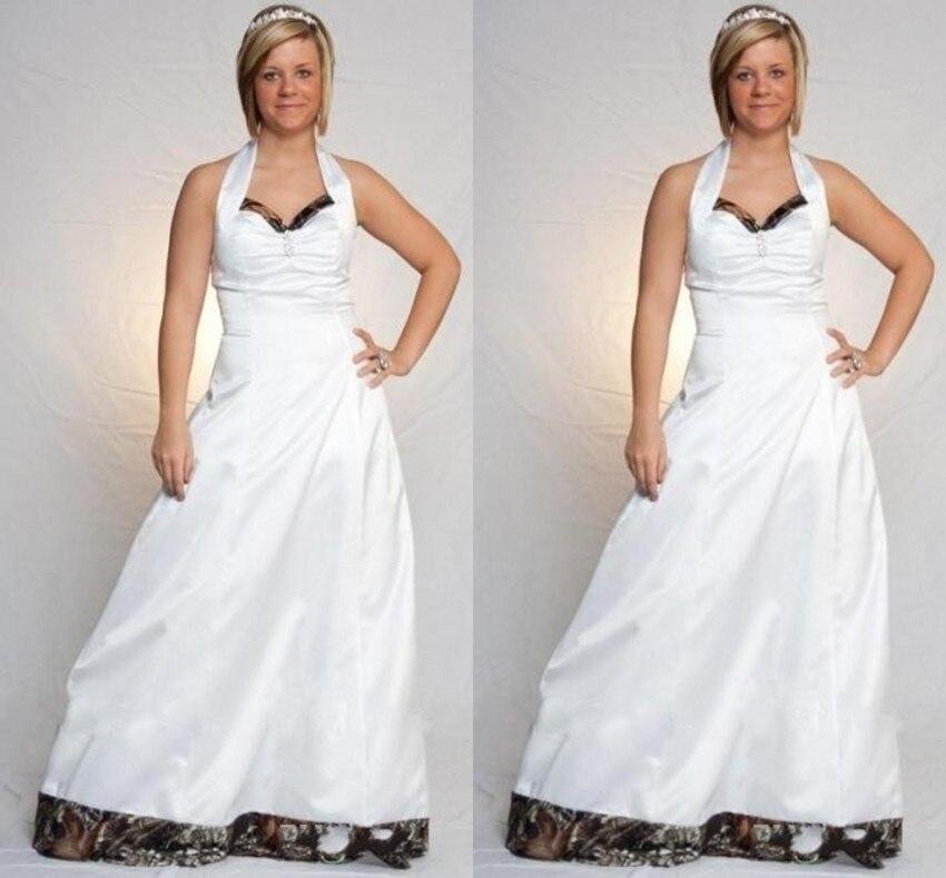 New Style Camo Wedding Dress Halter Sleeveless Backless Vestido De Casamento A Line Wedding Dresses Floor Length Camouflage