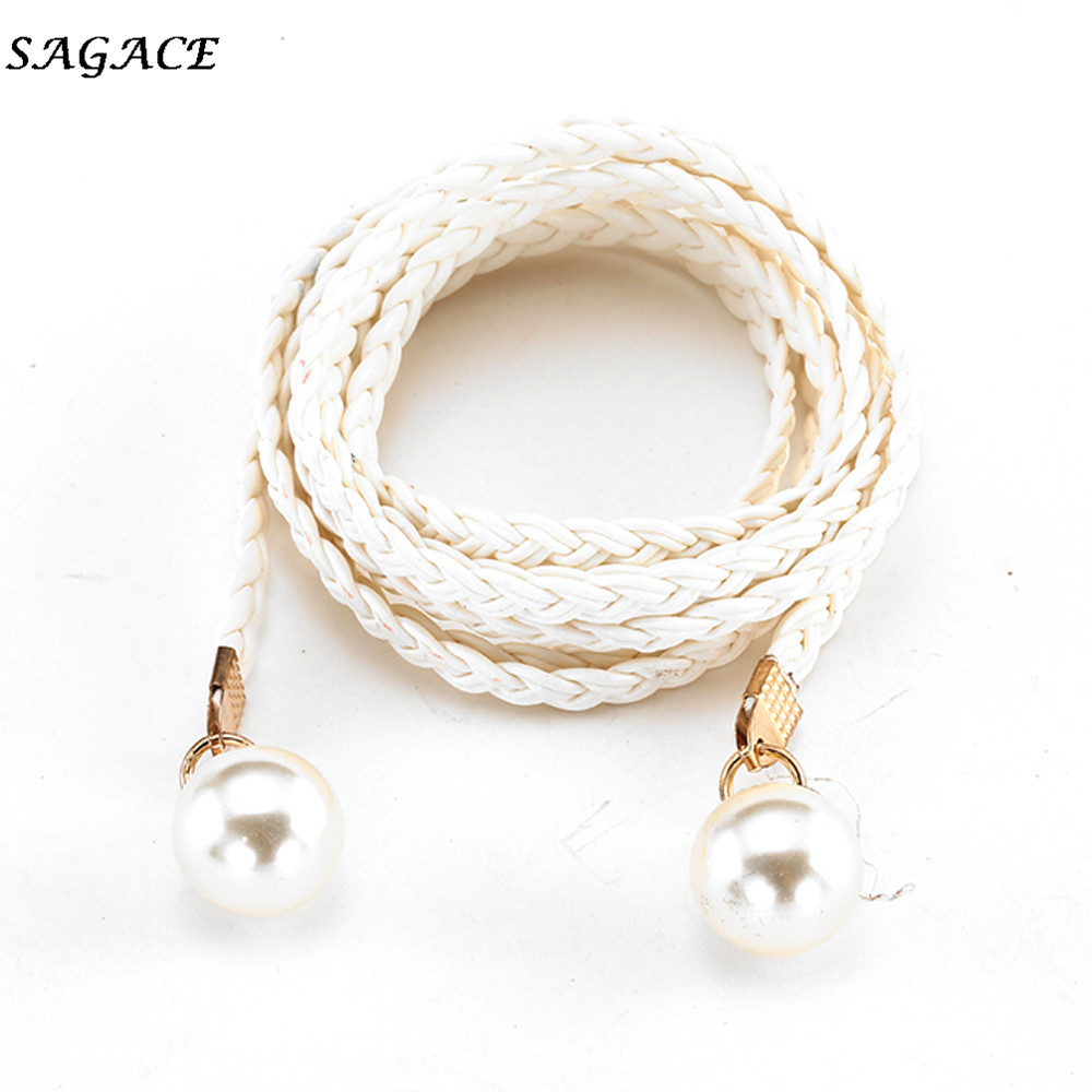 SAGACE Fashion Belts Women  Imitation Leather Candy Colors Hemp Rope Braid Belt Popular Female Belt Girls For Dress Belts Ladies