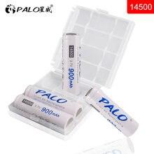 Литий ионные аккумуляторные батареи palo 4 шт 900 мАч 14500