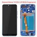 Отпечаток пальца с рамкой LCD для Huawei Honor 10 COL-L29 LCD для Huawei Honor 10 дисплей + сенсорный экран в сборе
