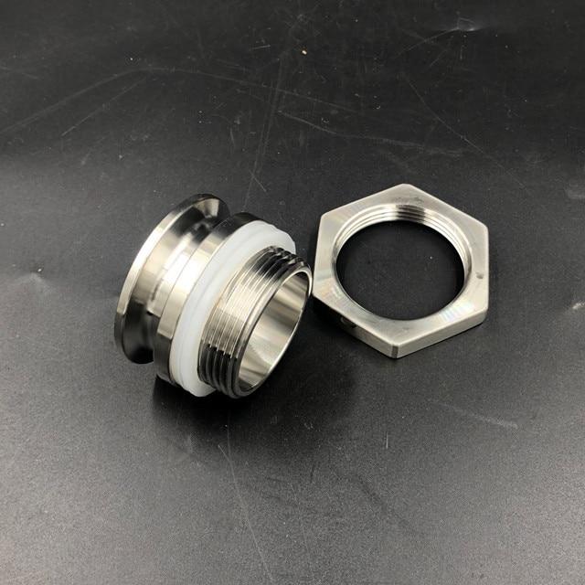 "Tri Clamp Bulkhead Compression Fitting 1.5"" TC Homebrew Weldless Bulkehad 304 Stainless Steel Homebrew Kettle Bulkhead"