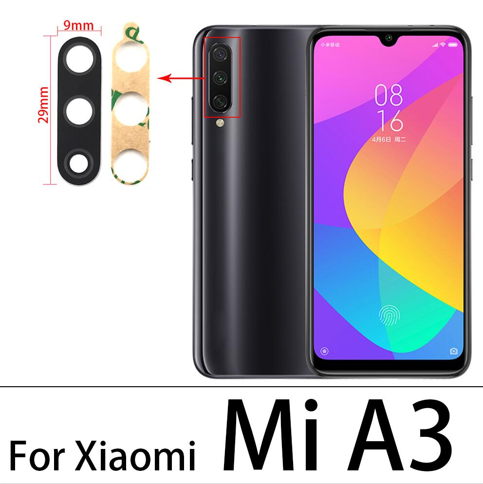 For Xiaomi <font><b>Mi</b></font> A3 A1 <font><b>A2</b></font> Lite Rear Back <font><b>Camera</b></font> <font><b>Glass</b></font> Lens Cover Replacement Parts For <font><b>Mi</b></font> 10 Redmi Note 9S 9 Pro Max 10 image