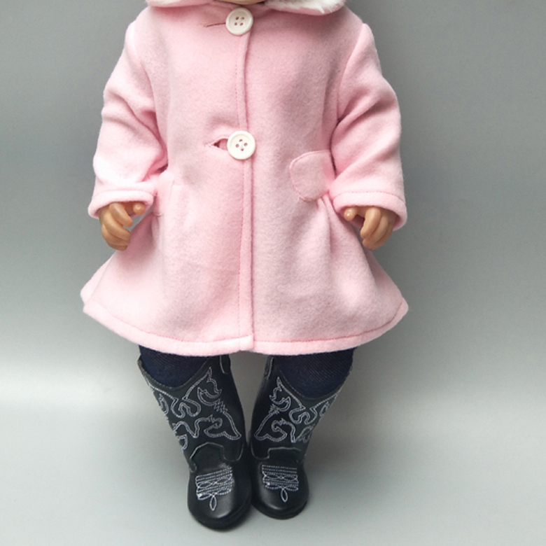 18 Inch American Generation Girl Doll Clothes Coat Tights For Baby Doll New Born Doll Clothes 18