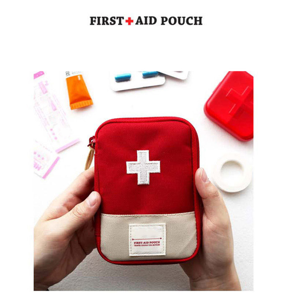 Empty First Aid Bag Emergency Pouch Travel Medicine Pill Storage Bags Outdoor Survival Organizer PUO88