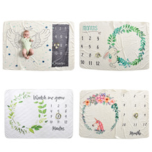 152X102 ежемесячное детское одеяло, реквизит для фотосессии, ежемесячное детское одеяло для новорожденных, фон с крыльями ангела, одеяло для фотосессии