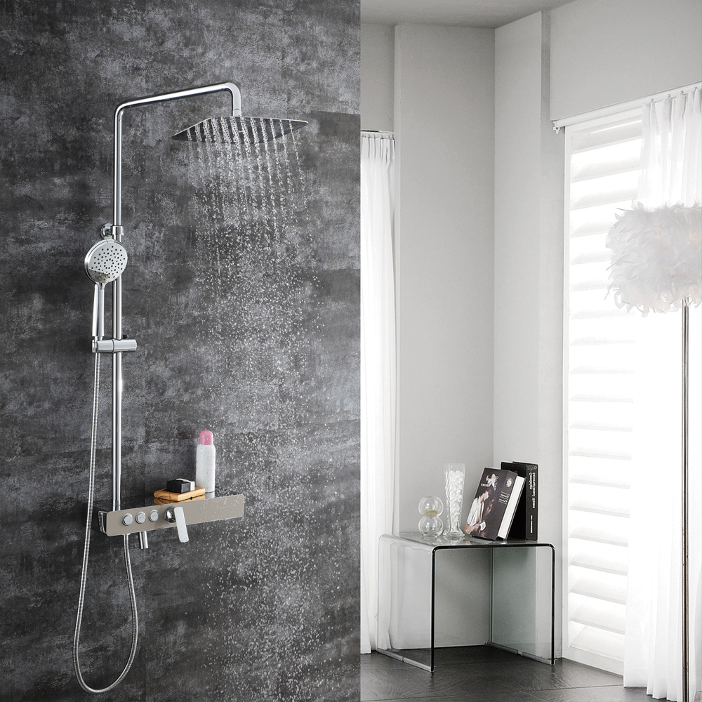 M Boenn Shower Faucets Spout 304 Stainless Steel Bibcocks Brushed Tap Bathtub