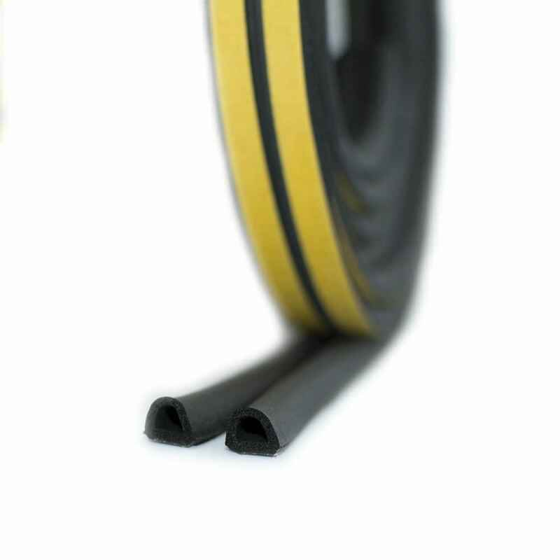 Vendas quentes marca novo draught excluder auto adesivo de borracha porta janela selo tira rolo espuma d forma