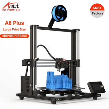 300*300*350mm Updated Anet A8 Plus 3D Printer Low Noisy High precision Desktop Imprimante 3D Printing Kit USB SD Card Connect anet a6 desktop 3d printer kit with metal acrylic frame