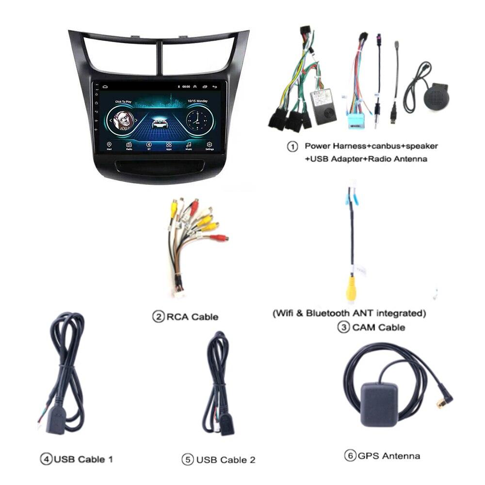 Radio samochodowe dla chevroleta Sail DVD 2015 2016-2018 system multimedialny Radio stereo obsługuje fm Carplay SWC no 2 din Android 8.1 9
