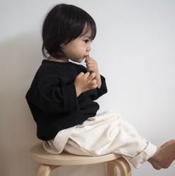 2018 Новая Осенняя льняная футболка в японском стиле для малышей повседневный топ с длинными рукавами и пряжкой нейтральная Детская рубашка