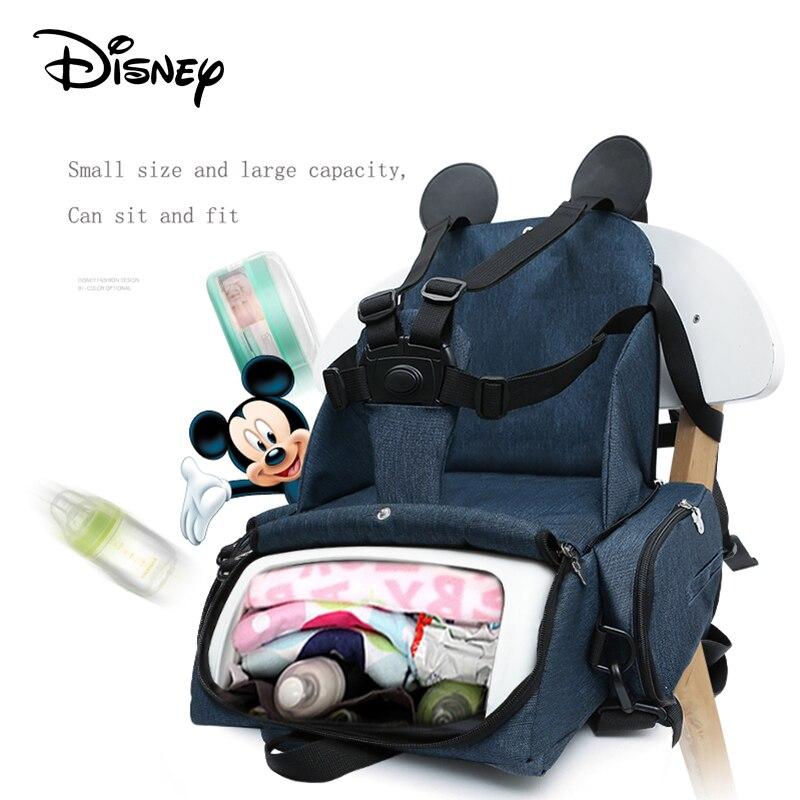 Disney Diaper Bag Backpack Baby Bags For Mom Mickey Minnie Wet Bag Fashion Mummy Maternity Diaper Organizer Dinner Chair Bag