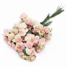 Lucia Crafts 60/120pcs/Lot Rose Bouquet Wedding Flower Party Decor Flowers DIY Materials A0203