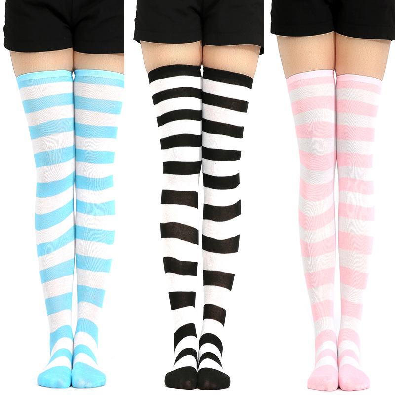 Meias curtas, meias listradas para meninas 001