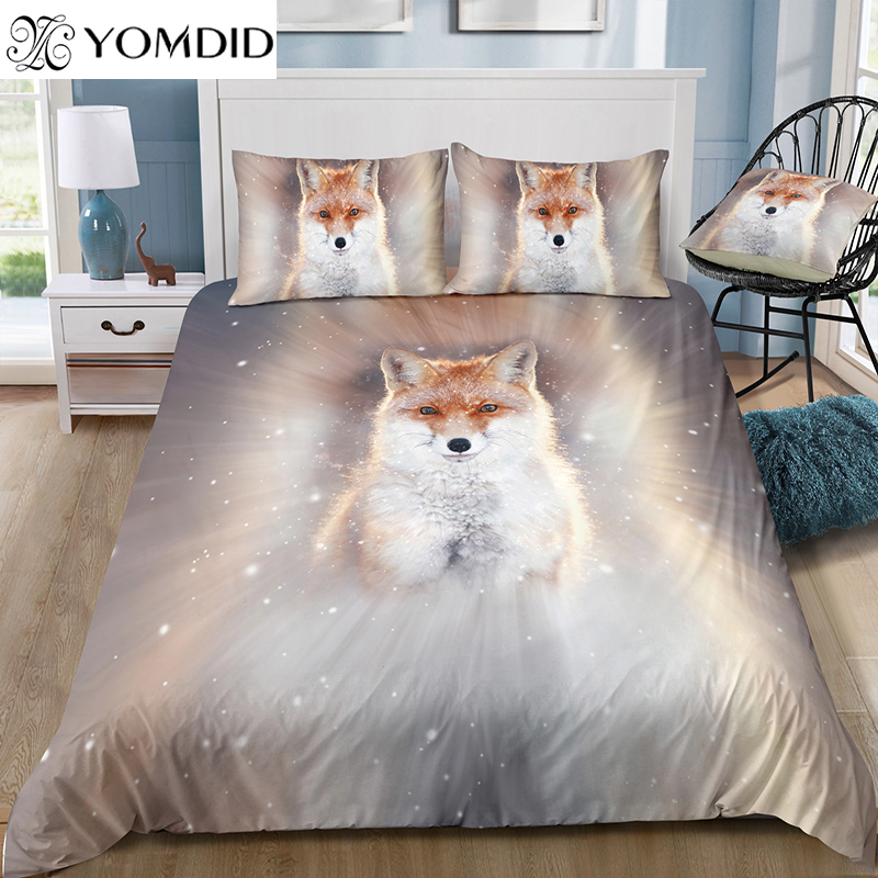 Animal Print Quilt Duvet Covers Bedding Suit Sets with Pillow Case Bedroom Decor