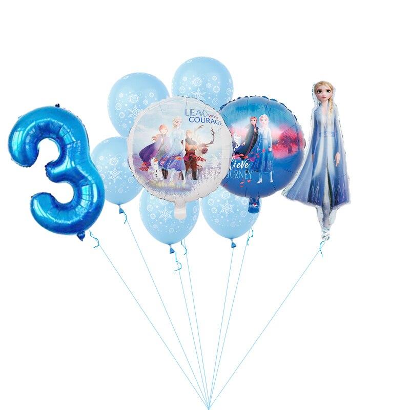 """1 комплект; Новинка; Эльза; Disney принцессы из мультфильма """"Холодное сердце"""" 32 дюймов номер фольгированные шары Baby shower Платье на день рождени..."""