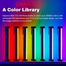Godox TL30 بافو مصباح أنبوبي يده ضوء RGB التصوير المصغرة عصا مع APP التحكم عن بعد للصور فيديو فيلم Vlog VS 6C