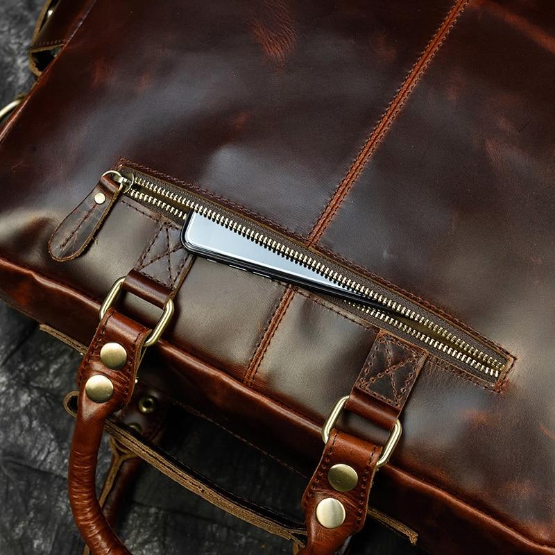 "H83b40adf1475468581614e88b1e7b326i MAHEU Men Briefcase Genuine Leather Laptop Bag 15.6"" PC Doctor Lawyer Computer Bag Cowhide Male Briefcase Cow Leather Men Bag"