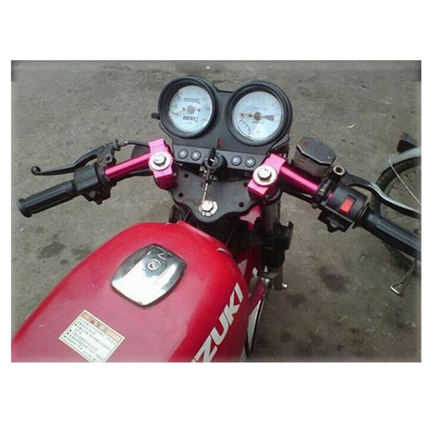 Motorcycle CNC Cafe Racer Handlebar Racing Adjustable 24-31MM Clip On Fork Handle Bar