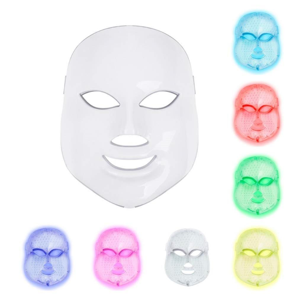 Led Facial Mask 7 Colors Led Korean Photon Therapy Face Mask Machine Light Therapy Wrinkle Acne Skin Care Led Mask