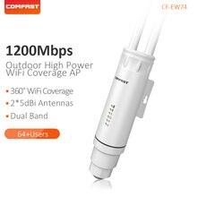 Comfast alta potência ao ar livre sem fio wi fi repetidor ap 1200mbps roteador wi fi ampla cobertura 2.4 + 5.8ghz poe extensor de longo alcance ap
