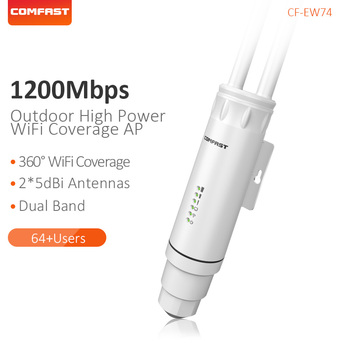 Comfast High Power 1200Mbps Dual Band 2.4G&5.8G Outdoor Wide Coverage Long Range Extender Access Point Wifi Base Station CF-EW74