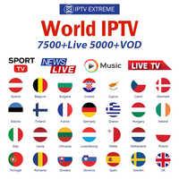 8000 Live Europe IPTV Subscription Rocksat France UK German Arabic Dutch French Poland Portugal Smart TV IPTV M3U For Android