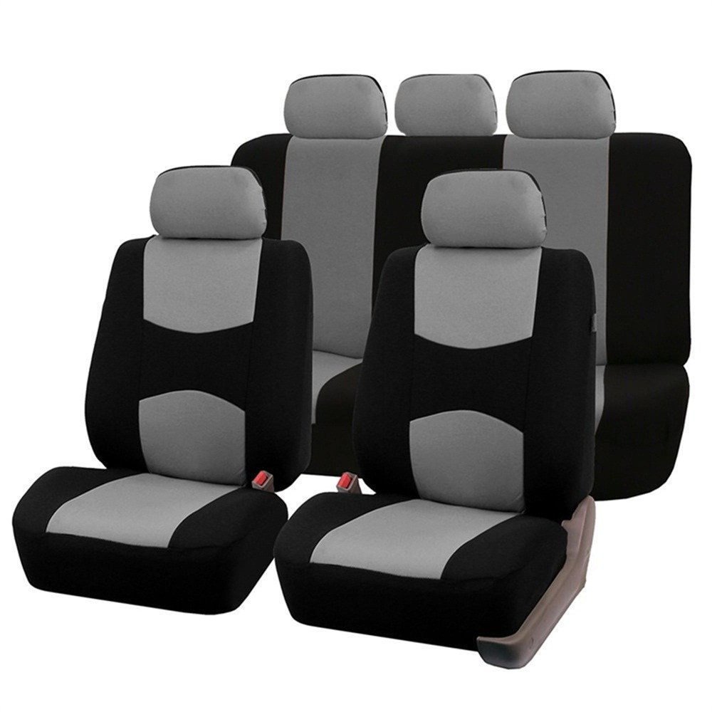 Black Synthetic Leather Seat Covers Full Set For Renault Captur 2013 On