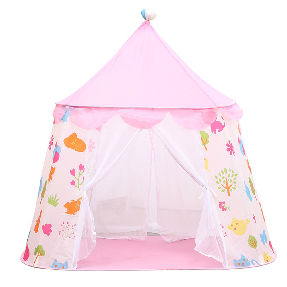 Portable Children's Baby Tent Toy Ball Pool Princess Girl's Castle Play House Kids Small House Folding Playtent Baby Beach Tent