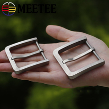 Meetee Solid Pure Titanium Pin Belt Buckles Harmless To Skin for Men Jeans Clothing Accessories Leather Craft  Width 37/39mm