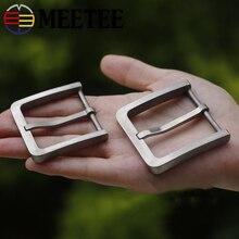 Meetee solidny czysty tytan pas klinowy klamry nieszkodliwe dla skóry dla mężczyzn dżinsy odzież akcesoria skóra Craft szerokość 37/39mm