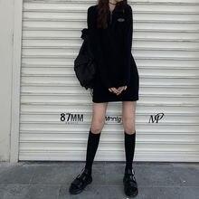 Qweek для женщин Гот платье готика Харадзюку облегающее черное