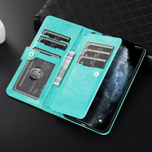 Image 2 - Luxury Detachable Leather Wallet Phone Case for iPhone 12 Pro Max Cover Mini 11 SE 2020 Xr X Xs 8 7 Plus 6 6s Zipper Flip Bumper