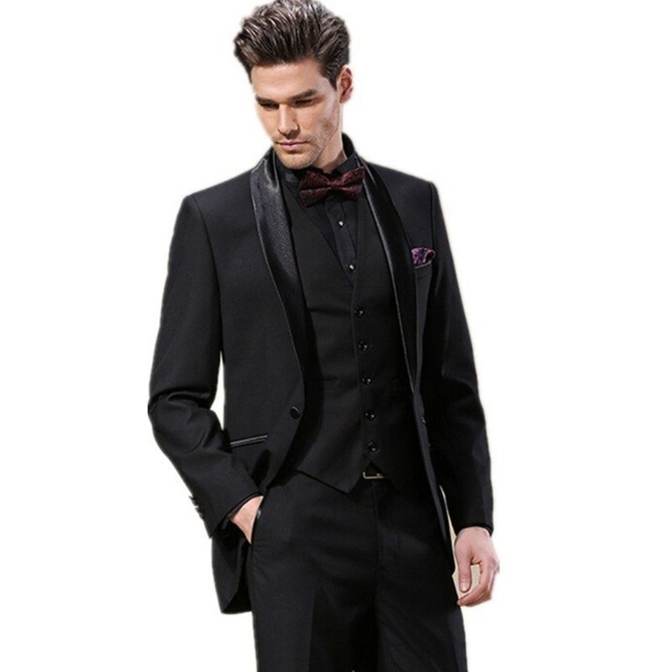 New Classic Men's Suit Smolking Noivo Terno Slim Fit Easculino Evening Suits For Men Style Tuxedo Custom Business Prom Bridegroo