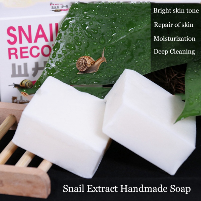 NEWHot Snail Recovery Handmade Soap Oil-control Anti-acne Oil-control Face Soap Handmade Soap Face Cleansing