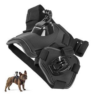 Image 5 - Caméra daction chien harnais montage réglable pour GoPro Hero 7 6 5 4 Xiaoyi sport Cam poitrine sangle support