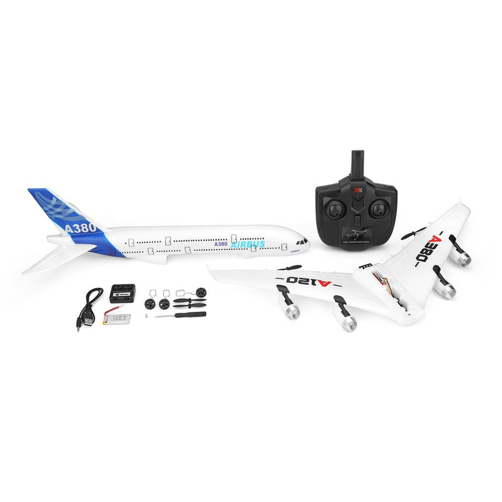 A120-A380 Airbus 2.4GHz 3CH RC Airplane Fixed Wing Drone Aeromodelling Remote Control Aircraft Six-axis Flight Toys
