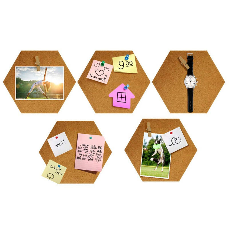 Nordic Style Message Wood Frame Bulletin Cork Board Home Hexagonal Square Circle Photo Wall Decor Office Home Decoration