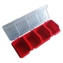 Plastic Tools Storage Box with Cover Parts Screw Toolbox Case Components Sorting
