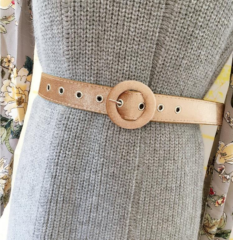 Women's Runway Fashion Velvet PU Leather Cummerbunds Female Dress Coat Corsets Waistband Belts Decoration Wide Belt R1740