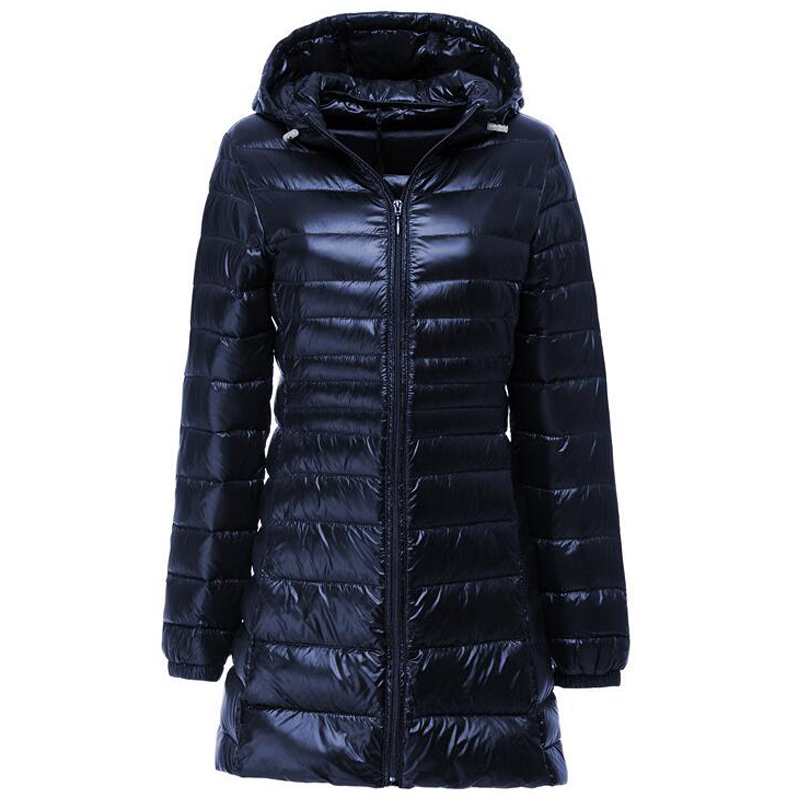 Plus Size S-Jacket Women Spring Autumn Winter Warm Duck Coats Womens Long Hooded Thin Lightweight Jackets Lady Down Clothes