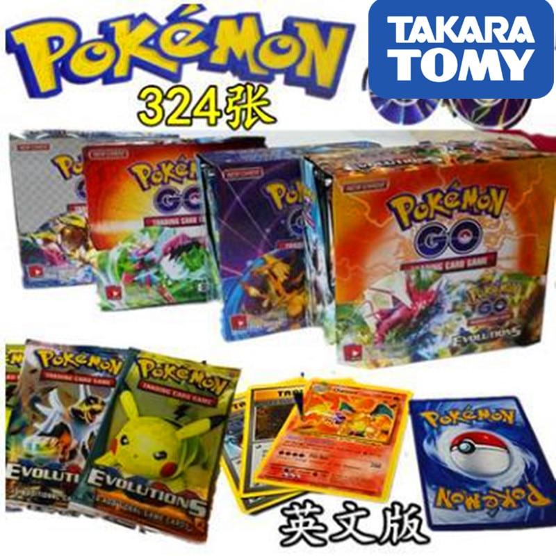 324pcs TAKARA TOMY Pet Pokemon Cards 2019 The Newest Pokemon English Card  The Toy Of Children