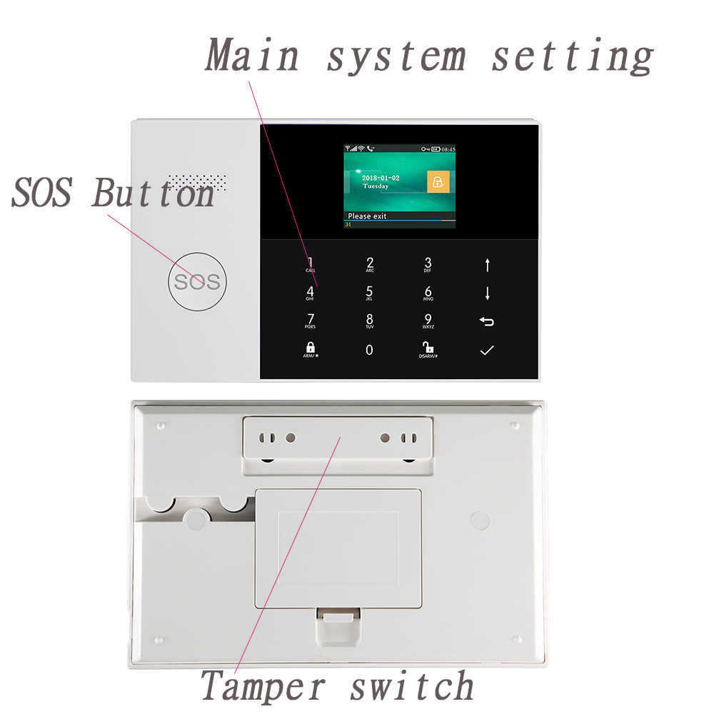 3G Draadloze WIFI SIM GPRS SMS Smart Remote APP Controle Top Home/Fabriek/Huis Alarmsysteem alarm Host Voor IOS Android