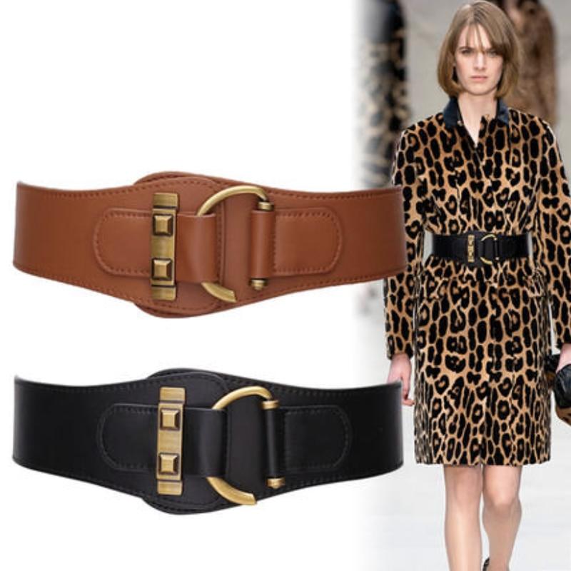 Corset Belt Woman Waist Plus Size Belts For Women Wide Cummerbunds Designer Elastic Ceinture Femme High Quality Genuine Leather